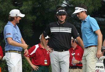 Webb Simpson, Bubba Watson and Keegan Bradley