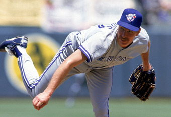 OAKLAND, CA - JULY 26:  Pitcher Jack Morris #47 of the Toronto Blue Jays on the mound during the game against the Oakland A's on July 26, 1992 at Oakland Alameda County Stadium in Oakland, California.  (Photo by Otto Greule Jr./Getty Images)
