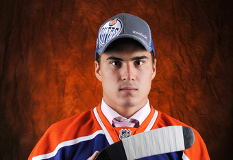 PITTSBURGH, PA - JUNE 22:  Nail Yakupov, drafted first overall by the Edmonton Oilers, poses for a portrait during Round One of the 2012 NHL Entry Draft at Consol Energy Center on June 22, 2012 in Pittsburgh, Pennsylvania.  (Photo by Jamie Sabau/Getty Ima