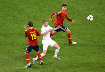 Spain will be in trouble if Pique and Ramos find themselves alone against Ronaldo and Nani.
