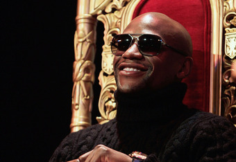 NEW YORK, NY - FEBRUARY 28:  Floyd Mayweather attends a press conference to promote his upcoming fight with Miguel Cotto on May 5 at the MGM Grand in Las Vegas at the The Apollo Theater on February 28, 2012 in New York City.  (Photo by Chris Trotman/Getty