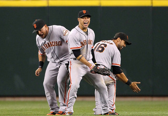 Melky Cabrera, Gregor Blanco and Angel Pagan hope to do their victory crash against the Dodgers.