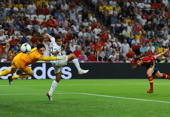 Xabi Alonso doesn't score often, but his header was the difference againt France.