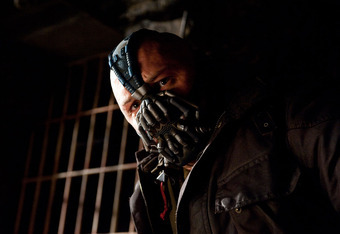 The film incarnation of Bane. Photo: www.thedarkknightrises.com