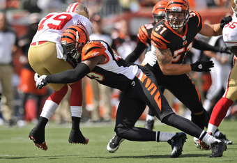 Jeromy Miles was the Bengals' top special-teams tackler last season.