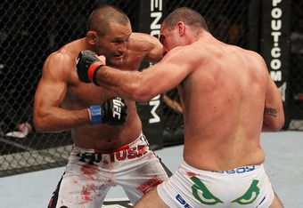 While not as evenly contested as UFC 139's Henderson vs. Rua, Saturday's main event did feature another exciting battle of ex-Pride and UFC champs. Image courtesy of UFC.com.