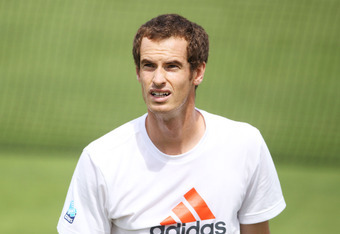 LONDON, ENGLAND - JUNE 25:  Andy Murray of Great Britain practices on day one of the Wimbledon Lawn Tennis Championships at the All England Lawn Tennis and Croquet Club on June 25, 2012 in London, England.  (Photo by Dan Kitwood/Getty Images)
