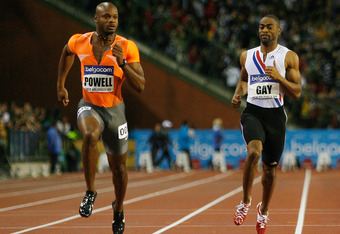 When Gay returns to the Olympic stage, he will have to contend with world-renowned sprinters such as Asafa Powell, whose own personal best in the 100-meters is 9.72 seconds.