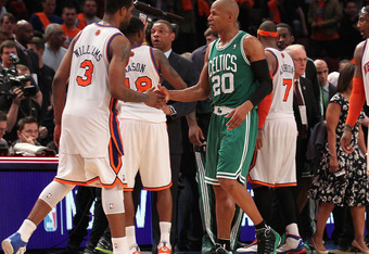 Ray Allen may have played his last game in green.