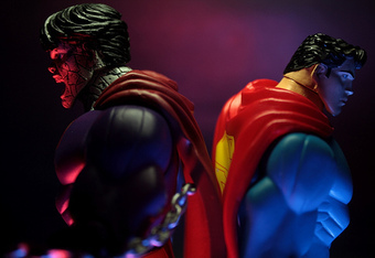 Bizarro and Superman back-to-back. Photo: http://flickrhivemind.net/Tags/zod/Interesting