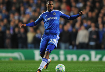 LONDON, ENGLAND - MARCH 14:  Daniel Sturridge of Chelsea in action during the UEFA Champions League Round of 16 second leg match between Chelsea FC and SSC Napoli at Stamford Bridge on March 14, 2012 in London, England.  (Photo by Michael Regan/Getty Imag