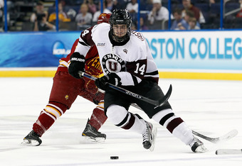 Defenseman Shayne Gostisbehere of Union (ECAC) went 78th overall to the Philadelphia Flyers