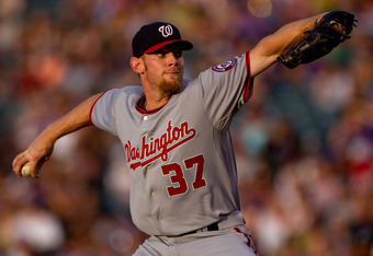 Stephen Strasburg is one of the NL's top pitchers.