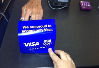 If you plan on attending an Olympic event and don't own a Visa card, you better bring a wallet full of cash.