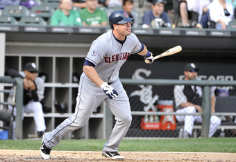 CHICAGO, IL - SEPTEMBER 10:  Matt LaPorta #7 of the Cleveland Indians follows through on a two-RBI double during the fifth inning against the Chicago White Sox at U.S. Cellular Field on September 10, 2011 in Chicago, Illinois.  (Photo by Brian Kersey/Gett
