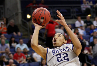 COLUMBUS, OH - MARCH 16:  Otto Porter #22 of the Georgetown Hoyas shoots against the Belmont Bruins in the second half during the second round of the 2012 NCAA Men's Basketball Tournament at Nationwide Arena on March 16, 2012 in Columbus, Ohio. Georgetown