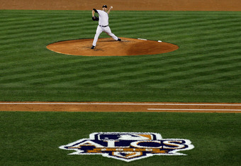 NEW YORK - OCTOBER 18:  Starting pitcher Andy Pettitte #46 of the New York Yankees pitches against the Texas Rangers in Game Three of the ALCS during the 2010 MLB Playoffs at Yankee Stadium on October 18, 2010 in New York, New York.  (Photo by Jim McIsaac