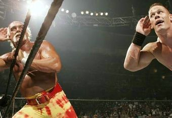 Hulk Hogan and John Cena are past and current WWE poster boys.  Yet Cena just may be better at it.