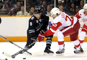 Joe Pavelski (left) may need to be traded in order to make the Brad Stuart (right) signing worthwhile