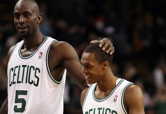 Kevin Garnett and Rajon Rondo won't allow Melo to drive Doc Rivers too nutty.