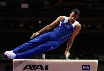 SAN JOSE, CA - JUNE 28:  Danell Leyva competes on the pommel horse during day 1 of the 2012 U.S. Olympic Gymnastics Team Trials at HP Pavilion on June 28, 2012 in San Jose, California.  (Photo by Ezra Shaw/Getty Images)