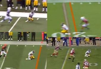 Mike Wallace must go low to the ground for these four receptions.