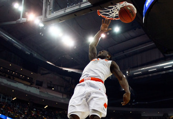 PITTSBURGH, PA - MARCH 15:  Dion Waiters #3 of the Syracuse Orange dunks the ball against the UNC Asheville Bulldogs during the second round of the 2012 NCAA Men's Basketball Tournament at Consol Energy Center on March 15, 2012 in Pittsburgh, Pennsylvania