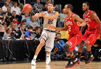 COLUMBUS, OH - MARCH 18:  Otto Porter #22 of the Georgetown Hoyas controls the ball against the North Carolina State Wolfpack during the third round of the NCAA Basketball Tournament on March 18, 2012 at Nationwide Arena in Columbus, Ohio.  (Photo by Jami