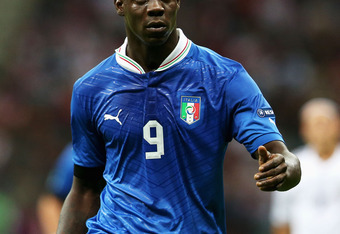 WARSAW, POLAND - JUNE 28:  Mario Balotelli of Italy during the UEFA EURO 2012 semi final match between Germany and Italy at the National Stadium on June 28, 2012 in Warsaw, Poland.  (Photo by Joern Pollex/Getty Images)