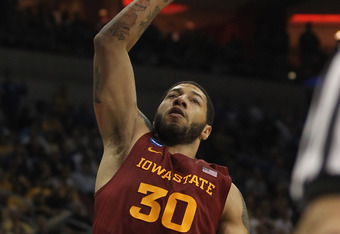 LOUISVILLE, KY - MARCH 17:  Royce White #30 of the Iowa State Cyclones shoots against the Kentucky Wildcats during the third round of the 2012 NCAA Men's Basketball Tournament at KFC YUM! Center on March 15, 2012 in Louisville, Kentucky. Kentucky defeated