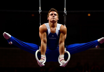 SAN JOSE, CA - JUNE 28:  Sam Mikulak competes on the rings during day 1 of the 2012 U.S. Olympic Gymnastics Team Trials at HP Pavilion on June 28, 2012 in San Jose, California.  (Photo by Ronald Martinez/Getty Images)