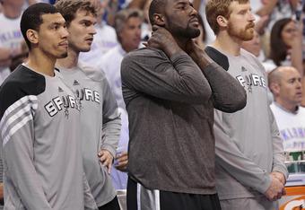 Spurs bench