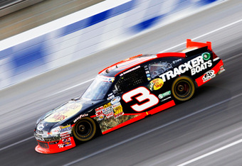 SPARTA, KY - JUNE 29:  Austin Dillon, driver of the #3 Bass Pro Shops Chevrolet Chevrolet, races during the NASCAR Nationwide Series Feed The Children 300 at Kentucky Speedway on June 29, 2012 in Sparta, Kentucky.  (Photo by Sean Gardner/Getty Images for