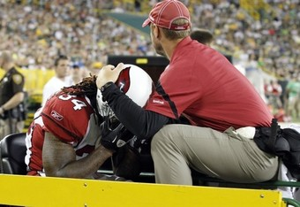 Williams after his season-ending injury (Photo credit Jeffrey Phelps/AP [h/t WashingtonPost.com])