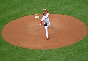 PHILADELPHIA, PA - JUNE 19: Starting pitcher Cole Hamels #35 of the Philadelphia Phillies delivers a pitch during the game against the Colorado Rockies at Citizens Bank Park on June 19, 2012 in Philadelphia, Pennsylvania. (Photo by Drew Hallowell/Getty Im
