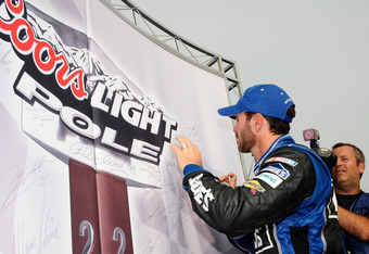 Johnson nabbed his first pole since Dover in 2010