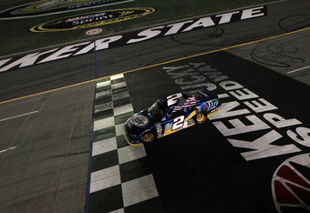 Keselowski won for the third time in 2012 at Kentucky