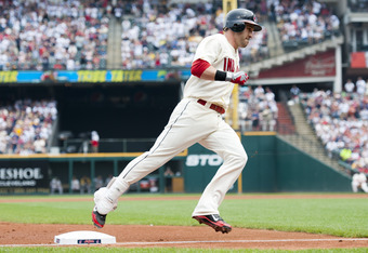 CLEVELAND, OH - JUNE 17: Jason Kipnis #22 of the Cleveland Indians rounds third after hiting a solo home run during the first inning against the Pittsburgh Pirates at Progressive Field on June 17, 2012 in Cleveland, Ohio. (Photo by Jason Miller/Getty Imag