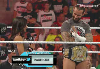 Bryan, Punk, and AJ, all on screen together. Well, in a manner of speaking at least. (Photo via fanpop.com)