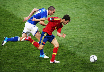 Italy were rarely able to keep up with the likes of Cesc Fabregas as Spain comfortably beat them 4-0 to win Euro 2012. Cesc Fabregas, pictured, was in especially terrific form.