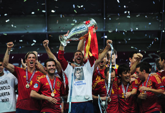 Spain celebrate yet another victory at a major international tournament.