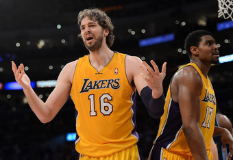Gasol has seen his role in the offense diminished thanks to Andrew Bynum's rapid development.