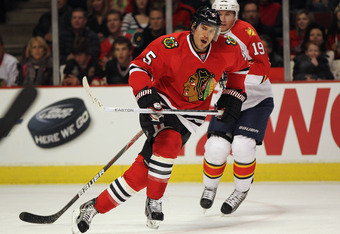 Does Steve Montador fit into Chicago's plans on the blue line?