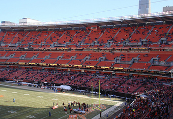 From last season's Bengals-Browns game at halftime. Game was a blackout.  (bengals.footballzone.com)