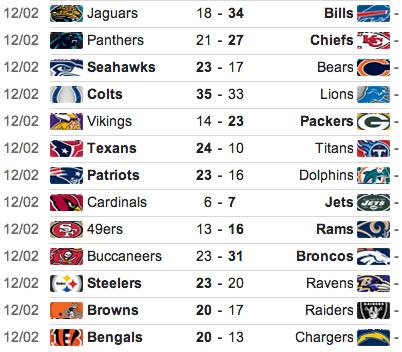 Week 13 Nfl Live Vikings Vs Packers Steelers Vs Ravens