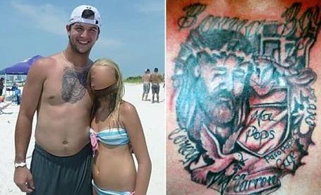 AJ McCarron Chest Tattoo
