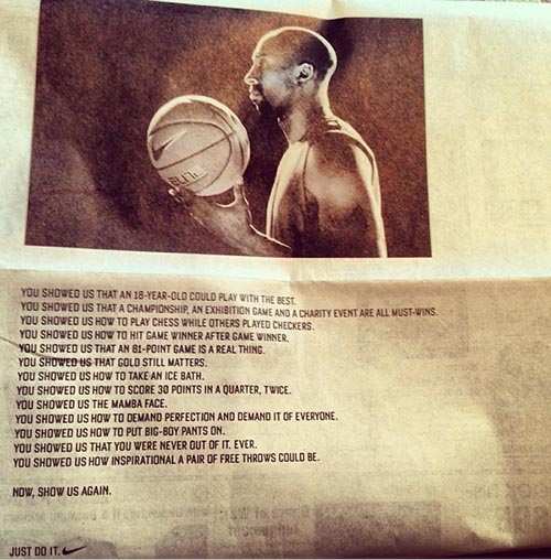 ... Los Angeles Lakers' Kobe Bryant with News Spread | Bleacher Report