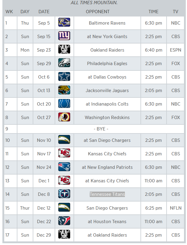 denver-broncos-2013-2014-schedule Images & Pictures - Becuo