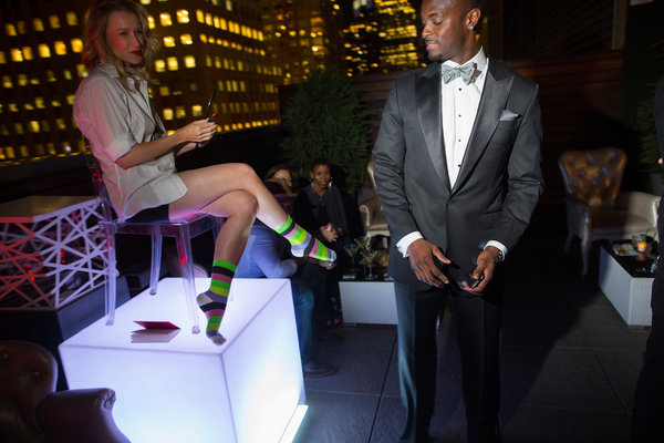 Plaxico Launches Luxury Sock Line