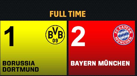 bayern munich vs dortmund live score